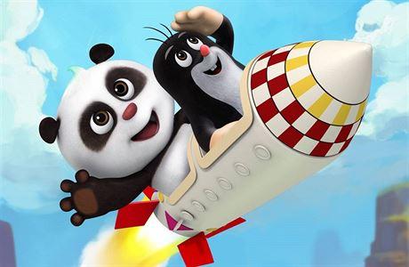 中捷合拍动画片《熊猫和小鼹鼠》在布拉格启动